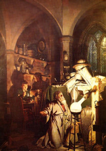 The Alchemist in Search of the Philosophers Stone by Joseph Wright of Derby (1734–1797)