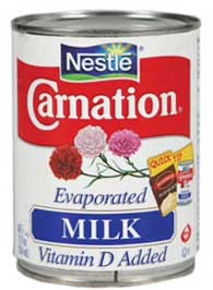 """When I grow up I'm going to have a cupboard full of Carnation evaporated milk, and drink whole cans whenever I want to."""