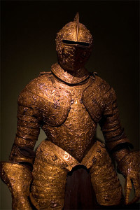 """My wife doesn't fancy me wearing armour,"" said Mike."