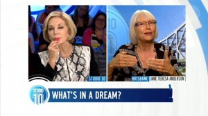 Dream analysis on Studio Ten show