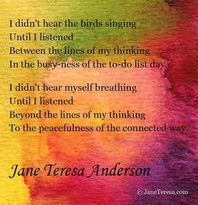 The Connected Way, Jane Teresa Anderson